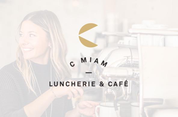 Le site pour C MIAM Luncherie & Café en cours de développement