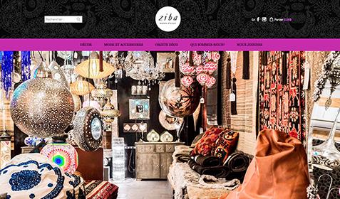 Aperçu sur écran de Ziba