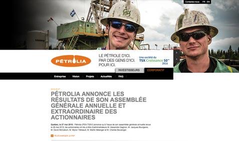 Aperçu de l'entreprise Pétrolia