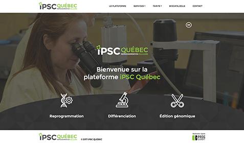 Aperçu sur écran de iPSC Québec