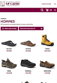 Aperçu sur tablette de Chaussures et orthèses McGraw