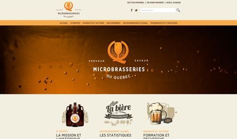 Aperçu sur écran de Association des microbrasseries du Québec
