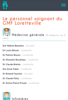 Aperçu sur tablette de Clinique Médicale Loretteville