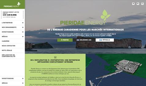 Aperçu sur écran de Pieridae Energy