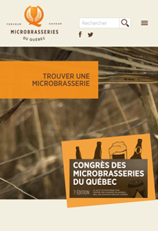 Aperçu sur tablette de Association des microbrasseries du Québec