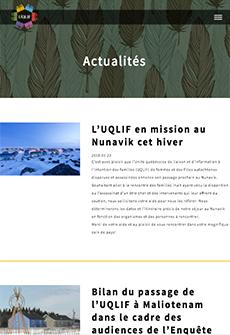 Aperçu sur tablette de UQLIF