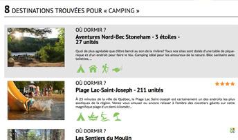 Aperçu sur cellulaire de Tourisme Jacques-Cartier