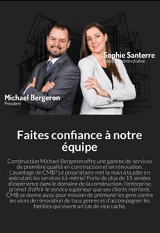Aperçu sur tablette de Construction Michael Bergeron