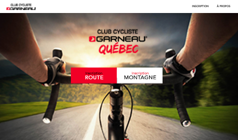 Aperçu sur écran de Club Cycliste Garneau