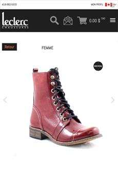 Aperçu sur tablette de Leclerc Chaussures