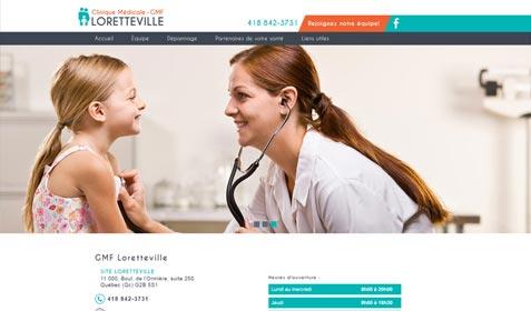 Aperçu sur écran de Clinique Médicale Loretteville